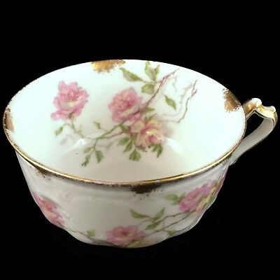 VTG Haviland Limoges Coffee Cup Baltimore Rose Actual Pictured #4