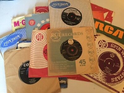 Job lot  Collection 15 x singles fifties and sixties 45 rpm