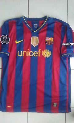 Maillot Fc Barcelone 2010 Champions League 10 Messi