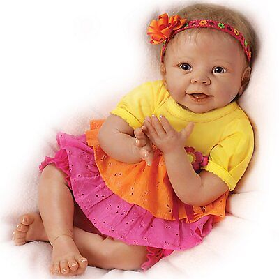 Ashton Drake - ESKIMO KISSES Touch-Activated baby girl doll by Linda Murray