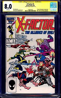 X-Factor #5 CGC SS signed by Bob Layton 1st Appearance of Apocalypse 1986