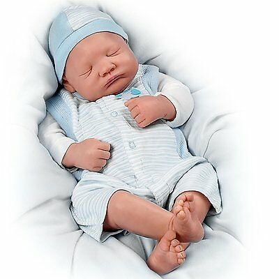 Ashton Drake WELCOME HOME LITTLE ONE baby boy doll by Linda Webb