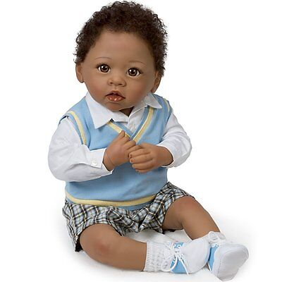 Ashton Drake MICHAEL LOVE YOU MOON BACK Baby Boy Doll by Linda Murray