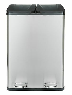 HOME 60 Litre 2 Compartment Recycling Bin