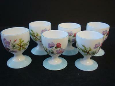 Shelley Wild Flowers 6 X Egg Cups