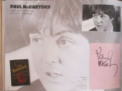 autographe signed  the beatles john lennon  paul mc cartney mccartner