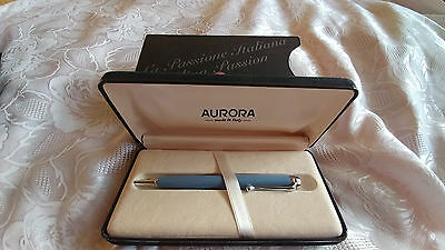 Aurora Talentum blue resin and Chrome Trim ballpoint pen