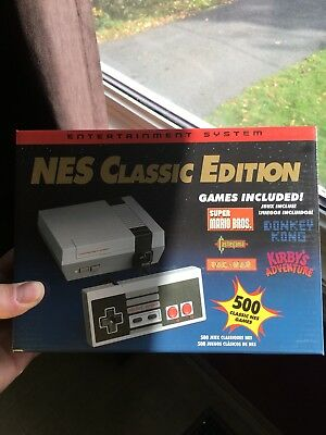 Nes Classic Edition Mini Console 500 Games New Box In Hand Canadian Seller
