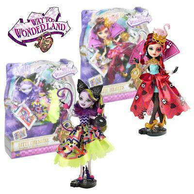 New Ever After High Way Too Wonderland Lizzie Hearts Or Kitty Cheshire Doll