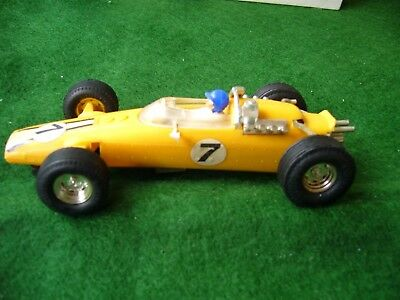 Vintage Scalextric C 6 Panther in yellow