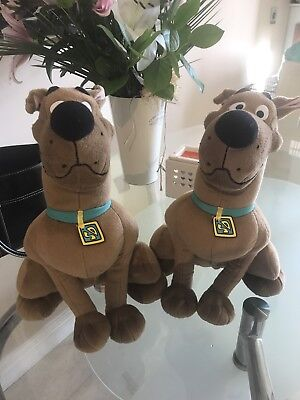 Pair Of Warner Brothers Talking Scooby Doo Plush Toys