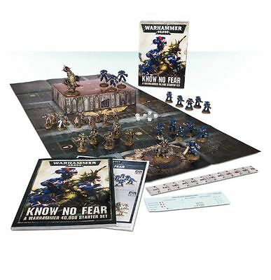 KNOW NO FEAR Starter Set Warhammer 40k Space Marine Chaos NEW