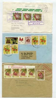 South Africa Rail Letter Post Covers x 3. Ulco, Wolseley, Copperton