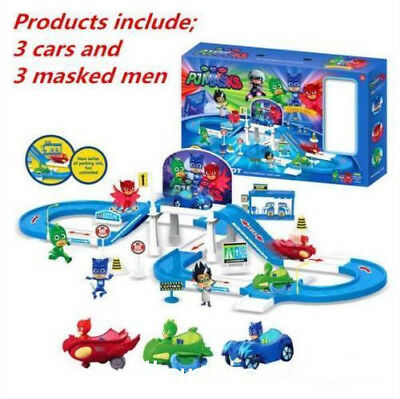 Pj Masks Party Command Center Car Parking Car Characters Catboy Owlette Gekko