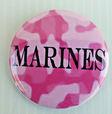 United States Marine Corp * Buttons * Mirrors * Magnets *  Usmc Camo Pink