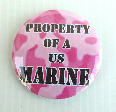 United States Marine Corp * Buttons * Mirrors * Magnets *  Property Of Usmc
