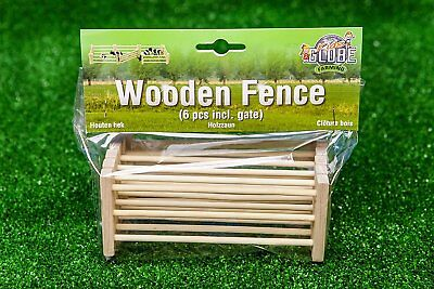 Kids Globe Wooden Fences 6 peices - toy farm accessories. scale 1:24