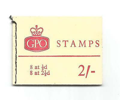 Gb Eii 2/- Vended Machine Complete Stamp Booklet Sg Nr2 Dated 1964
