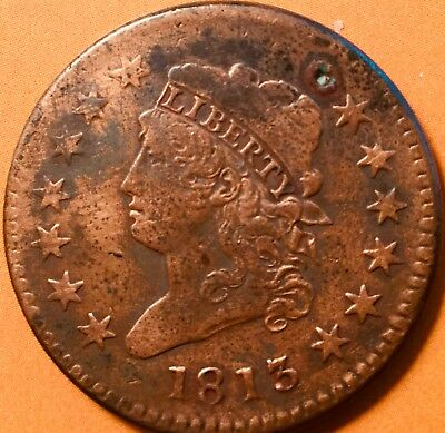 1813 Classic Head Large One Cent Coin !