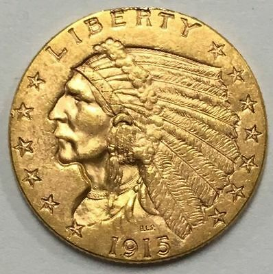 1915 $2.50 Gold Indian Head-