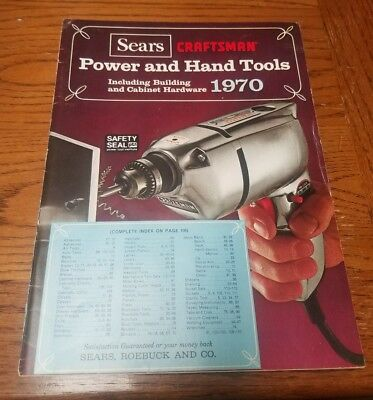 Collectible 1970 Sears Power & Hand Tools  Catalog