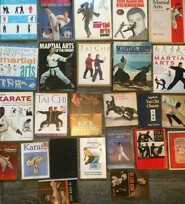 Large collection martial art books and dvds bruce lee kung fu