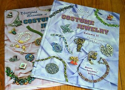 Signed Beauties Of Costume Jewelry Guide Vol II Marcia Sparkles Brown Unsigned 2