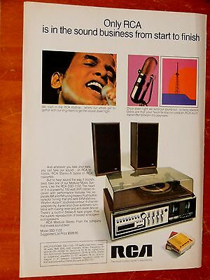 1972 Rca Ssd-1122 Stereo System & 8 Track Casettes Canadian Ad - Retro Vintage