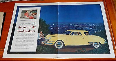 Beautiful 1949 Studebaker Champion Coupe Large Vintage Ad - American 40S Classic