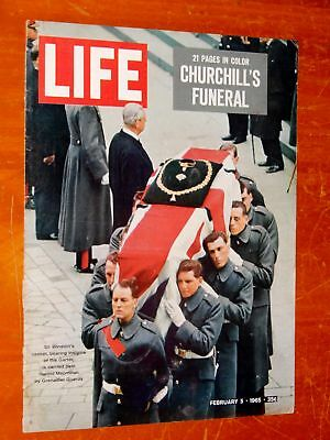 Winston Churchill Funeral On Life Magazine Cover + 1965 Mercury Comet Caliente