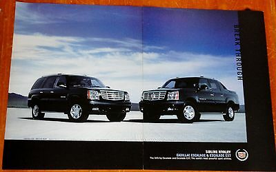 2003 Cadillac Escalade & Ext Pickup Version In Black Ad - American Luxury Truck