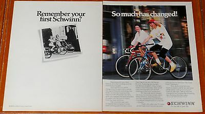 1988 Schwinn 10 Speed & Mountain Bikes Large Ad - Retro 80S Vintage Bicycle