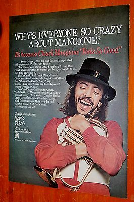 1978 Chuck Mangione Feel So Good Album Ad + Beautiful Norell Perfume Ad On Back
