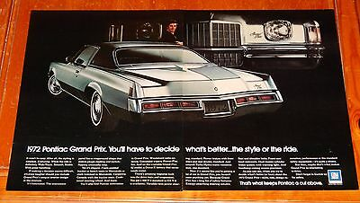 Awesome 1972 Pontiac Grand Prix Coupe Large Vintage Ad - American 70S Retro