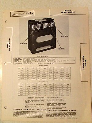 Sams Photofacts Vintage Amplifier 1947 and 1948 Rare collection Old Guitar Amps