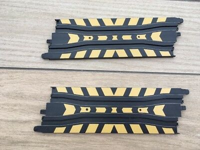 Two Micro Scalextric Chicane Track Sections