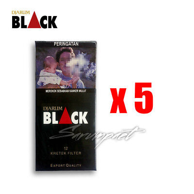 Djarum Black 12s Kretek Small Pack Edition 5 Packs