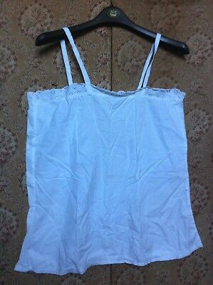 Antique French White Cotton Camisole,Broderie Anglaise,c1920