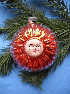 Old Russian Glass Christmas Ornament   The Sun
