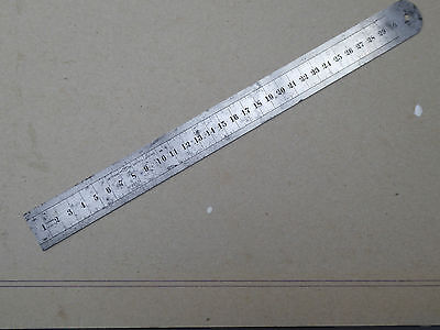CHESTERMAN SHEFFIELD No 955 30cms STEEL RULE RULER