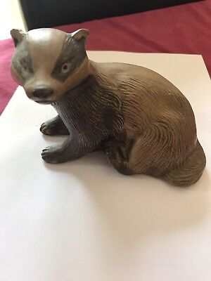 Poole Pottery Stoneware Badger Animal Figure Linley Adams