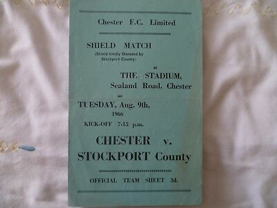 Chester v Stockport County August 1966 Friendly