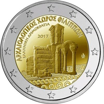 Greece 2 Euro 2017 «ARCHAEOLOGICAL SITE OF PHILIPPI» UNC PRESALE