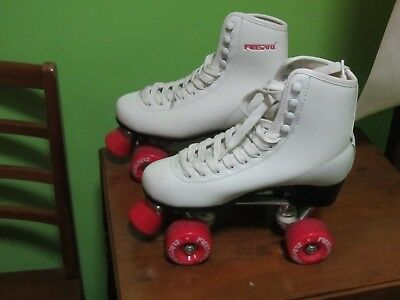 New Freesport Classic Quad roller skates kids Boot White Size 4-5 UK 37EU