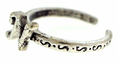 Antique Silver-Tone Toe Ring With The Letter 'N' Initial TR42A-N