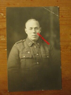 Early Real Photo Postcard Military Canadian Soldier  C 31