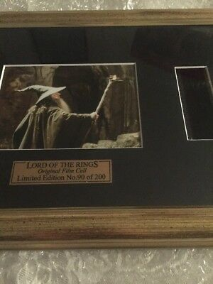 Limited Edition Lord Of The Rings Original Film Cell
