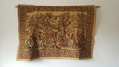 Medieval Wall Hanging With Horses