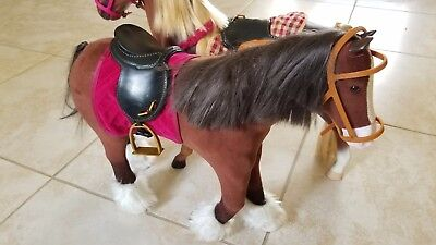 American Girl Doll Horse With Saddle (and second horse from Target)