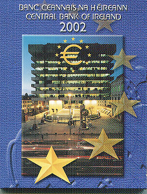 Irlanda Cartera Euro Coin Set 2002  Official Issue